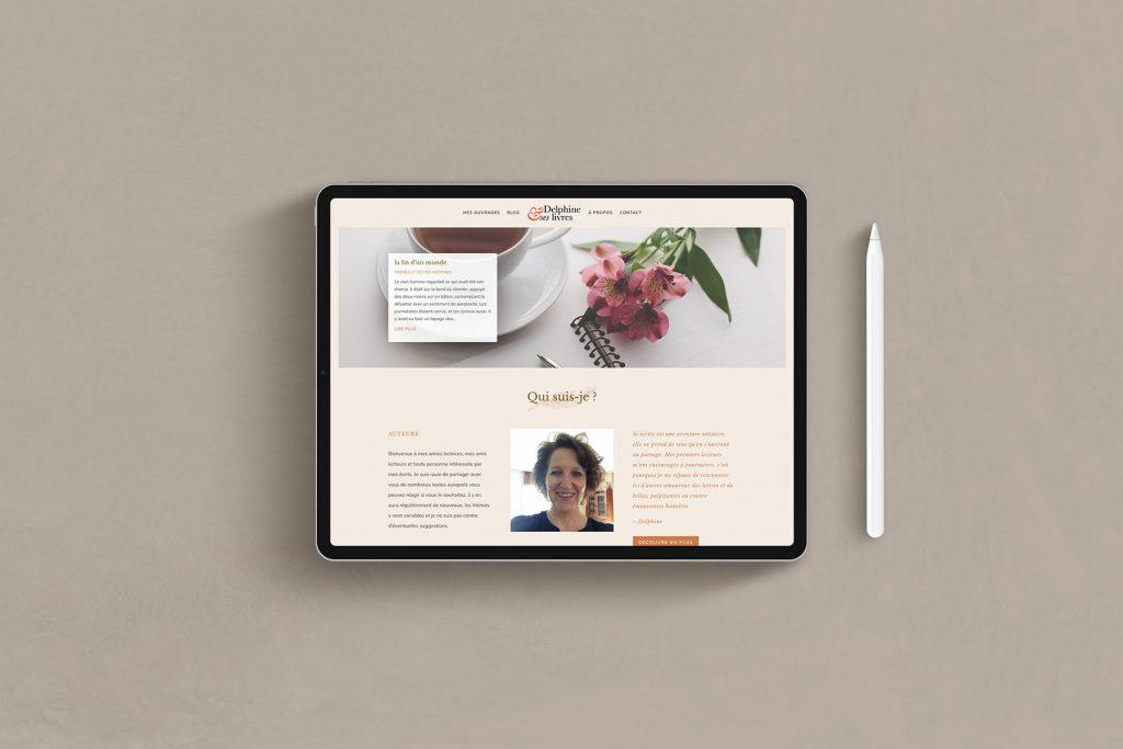 site internet de Delphine et ses livres